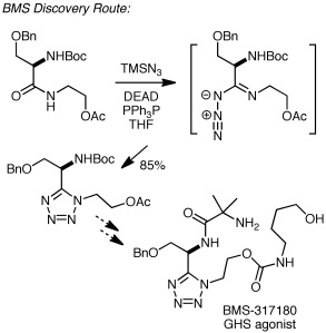 BMS discovery route using Duncia's method for tetrazole synthesis
