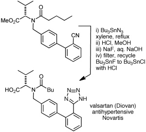 Valsartan synthesis