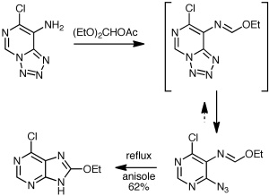 McKee Purine Synthesis by shifting the tetrazole-azidoazomethine equilibrium